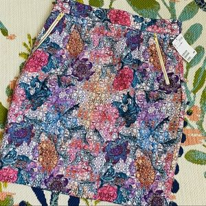 NWT H&M Stained Glass Floral Pencil Skirt